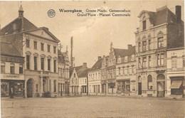 Waereghem NA4: Groote Markt. Gemeentehuis 1929 - Waregem