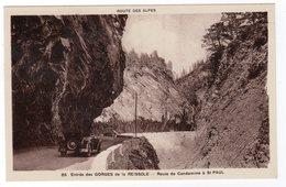 CPA 04 : 65 - Entrée Des GORGES De La REISSOLE - Route De Condamine à St-Paul - Auto - Ed. Jarry - - France