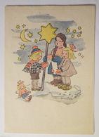 """""""Weihnachten, Sternsinger, Kinder, Puppe"""" 1948, Annemarie- Karten  ♥ (28197) - Noël"""