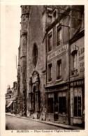 D72  MAMERS  Place Carnot Et L' Eglise Saint- Nicolas  ..... - Mamers