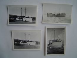 4 X PHOTO Ancienne 1950 : Bateau TEREHAU / PAPEETE / TAHITI / OCEANIE ( FRANCE ) - Lieux
