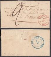 BELGIQUE LETTRE DATE TERMONDE 07/12/1845 VERS BRUXELLES  (EB) DC-7385 - 1830-1849 (Unabhängiges Belgien)