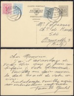 BELGIQUE EP 1Fr20+COB 854+859 SUR CARTE REPONSE DE MUNCHEN 03/07/1958 (EB) DC-7394 - 1951-1975 Lion Héraldique