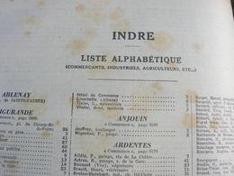 Pages Didot Bottin 1939 Indre Annuaire Chateauroux Issoudun La Chatre Artisan Industriel Commercant Cafe Usine - Non Classés