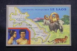 LAOS - Carte Du Laos  , édition Publicitaire Des Produits Chimiques Lion Noir De Paris - L 55916 - Laos