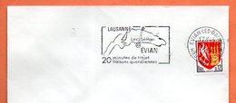 EVIAN LES BAINS  LAUSANNE  LAC LEMAN  1964 Lettre Entière N° HI 274 - Marcophilie (Lettres)