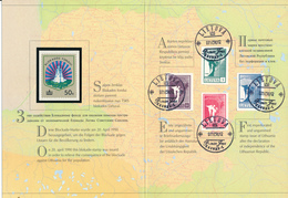 LITAUEN / LIETUVA / LIETUVOS -  7.10.90  FD , Friedensengel  - Kompletter Satz Im Folder - Big Letter, Dispatch = 4,20 € - Litauen