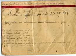 AVIATION 39/45 RARE POCHETTE DE DOCUMENTS A REMPLIR EN CAS DE PANNE OU D'ACCIDENT AFFECTEE AU LEO 20 N°97 - Documents