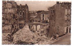 REF 472 : CPA 44 NANTES Après Les Bombardements Le Rue De L'arche Seche - Nantes
