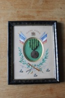 Médaille Gloire Et Patrie   Guerre De 1870 1871  Aquarelle Encadrement - Avant 1871