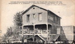 S4377 Cpa 77 Isles Les Villenoy - Restaurant Hôel Du Pont Du Chemin De Fer - Autres Communes