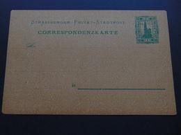 Magnifique Carte De La Poste Locale De Strasbourg - Utilisation Pendant L'occupation De L'Alsace-Moselle 1870-1918 - Alsace-Lorraine