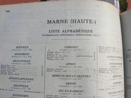 Pages Didot Bottin 1939 Haute Marne Annuaire Du Commerce Ttes Les Communes Artisan Industriel Commercant Cafe Usine - France