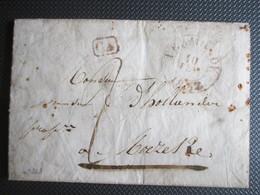 Brief Uit Termonde 10/02/1837 Naar Moerzeke - CA In Kastje - 1830-1849 (Onafhankelijk België)