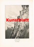 1769 Bergsteiger Eiskletterei Seilschaft Bergsteigen Kunstblatt 1909  !! - Other Collections
