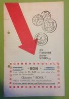 Pu. 121.  Ancien Depliant Publicitaire De 4 Pages De La Chicorée Bona Produit Par Launois Wallon A Angre - Publicités