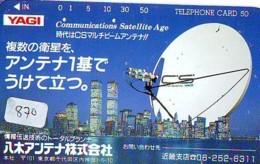 Télécarte Japon SATELLITE (870) ESPACE * TERRESTRE * MAPPEMONDE * Telefonkarte Phonecard JAPAN * GLOBE - Ruimtevaart