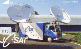 Télécarte Japon SATELLITE (872) ESPACE * TERRESTRE * MAPPEMONDE * Telefonkarte Phonecard JAPAN * GLOBE 1 - Ruimtevaart