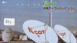 Télécarte Japon SATELLITE (873) ESPACE * TERRESTRE * MAPPEMONDE * Telefonkarte Phonecard JAPAN * GLOBE 1 - Ruimtevaart