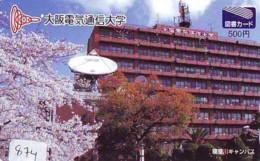 Télécarte Japon SATELLITE (874) ESPACE * TERRESTRE * MAPPEMONDE * Telefonkarte Phonecard JAPAN * GLOBE 1 - Espace