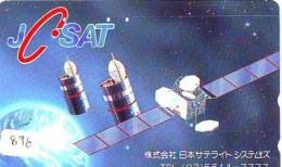 Télécarte Japon SATELLITE (876) ESPACE * TERRESTRE * MAPPEMONDE * Telefonkarte Phonecard JAPAN * GLOBE 1 - Ruimtevaart