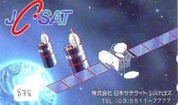 Télécarte Japon SATELLITE (878) ESPACE * TERRESTRE * MAPPEMONDE * Telefonkarte Phonecard JAPAN * GLOBE 1 - Ruimtevaart