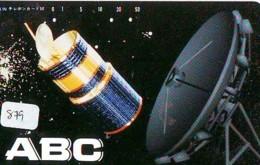 Télécarte Japon SATELLITE (879) ESPACE * TERRESTRE * MAPPEMONDE * Telefonkarte Phonecard JAPAN * GLOBE 1 - Ruimtevaart
