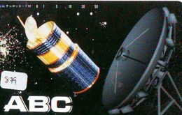 Télécarte Japon SATELLITE (879) ESPACE * TERRESTRE * MAPPEMONDE * Telefonkarte Phonecard JAPAN * GLOBE 1 - Espace