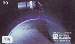 Télécarte  SATELLITE (884) ESPACE * TERRESTRE * MAPPEMONDE * Telefonkarte Phonecard * GLOBE - Espace