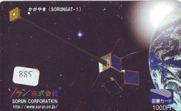 Télécarte  SATELLITE (885) ESPACE * TERRESTRE * MAPPEMONDE * Telefonkarte Phonecard * GLOBE - Espace