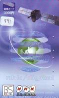 Télécarte  SATELLITE (891) ESPACE * TERRESTRE * MAPPEMONDE * Telefonkarte Phonecard * GLOBE - Espace