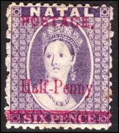 Natal 1895 ½d On 6d Violet Fine Used. - Natal (1857-1909)