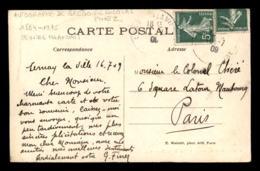 AUTOGRAPHE - GREGOIRE NICOLAS FINEZ (1884-1975) PEINTRE FRANCAIS -  SUR CARTE DES CASCADES DES VAUX-DE-CERNAY - Autógrafos