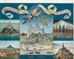 *** CALENDRIER 1975*** Mont Saint Michel 14x20cm --carte Postale Géante Calendrier Au Dos Offert  éditions  YVON - Grand Format : 1971-80