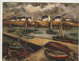 *** CALENDRIER 1975***  BRETAGNE Peinture G Vasseur  14x20cm --carte Postale Géante Calendrier  Dos Offert  éd  YVON - Grand Format : 1971-80