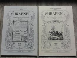Western Front Association Belgie   *  Shrapnel   -  Tijdschrift Jaar 1995 - Jaargang 7, N° 1,2,3,4 (Oorlog - Guerre WW1) - Guerra 1914-18
