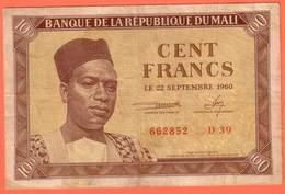 MALI - 100 Francs Du  22 09 1960 - Pick 2 - Malí