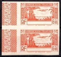 Timbre Poste Aérienne AOF De 1940 Sans Légende En Paire Non Dentelés Neufs ** MNH. B/TB. A Saisir! - France (ex-colonies & Protectorats)