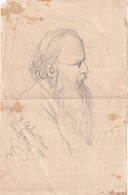 DESSIN DE K.GEHRI FAIT A BERNE LE    11 MARS 1891 REPRESENTANT  HERR ROTENBACH (POETE)? - Unclassified