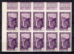Réunion Maury N° 127 En Bloc De Dix Timbres Non Dentelés Neufs ** MNH. TB. A Saisir! - Réunion (1852-1975)
