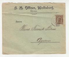 J.M. Offner, Wolfsberg Ompany Preprinted Postal Stationery Letter Cover Posted 1907 To Agram (Zagreb) B200310 - Stamped Stationery