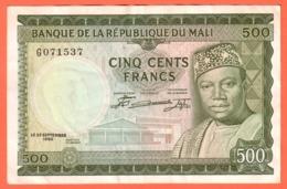 MALI - 500 Francs Du  22 09 1960 - Pick 3 - Malí