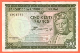 MALI - 500 Francs Du  22 09 1960 - Pick 3 - Mali