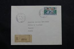 POLYNÉSIE - Enveloppe Commerciale En Recommandé De Papeete Pour Papeete En 1963, Affranchissement Plaisant - L 55955 - Briefe U. Dokumente