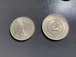 JUGOSLAVIA - 1973 - 2 Monete 1  E 2 DINARO - Joegoslavië
