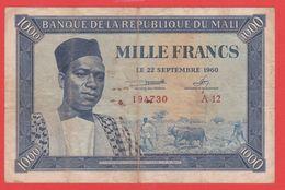 MALI - 1.000 Francs Du  22 09 1960 - Pick 4 - Malí