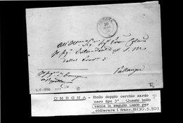 CG20 - Lett. Da Omegna X Pallanza 30/5/1850 - NO TESTO - Italia