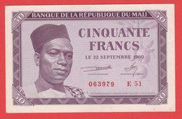 MALI - 50 Francs Du  22 09 1960 - Pick 1 - Malí