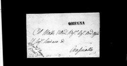 CG20 - Lett. Da Omegna X Crusinallo 24/4/1841- Bollo Lineare Nero Mm.26 Tipo 6° - ...-1850 Préphilatélie