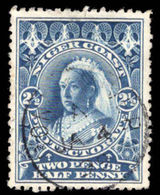Niger Coast 1897-98 2½d Deep Bright Blue Perf 13½-14 Watermark Fine Used. - Nigeria (...-1960)